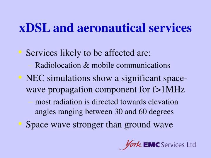 xDSL and aeronautical services