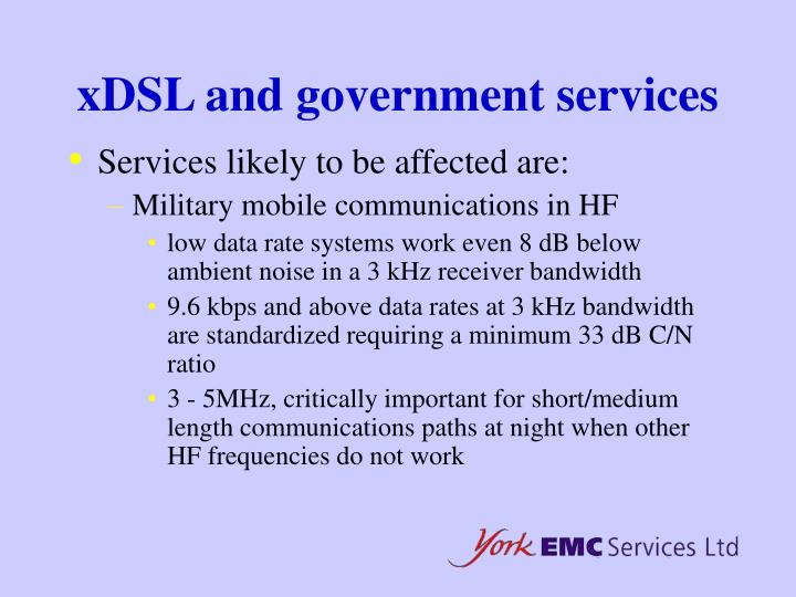 xDSL and government services