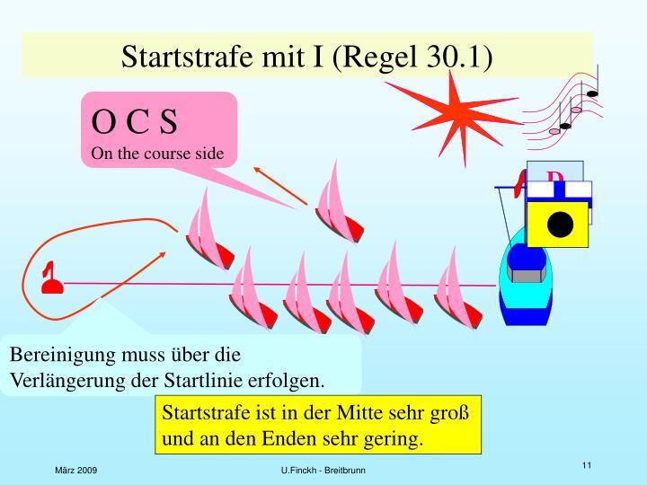 Startstrafe mit I (Regel 30.1)