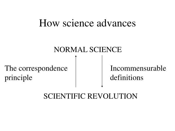 How science advances