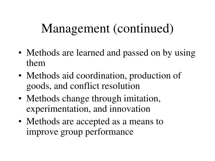 Management (continued)