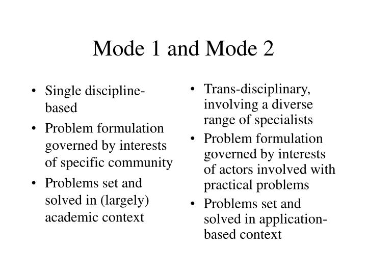 Single discipline-based