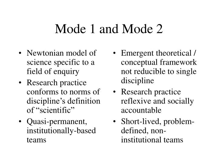 Newtonian model of science specific to a field of enquiry