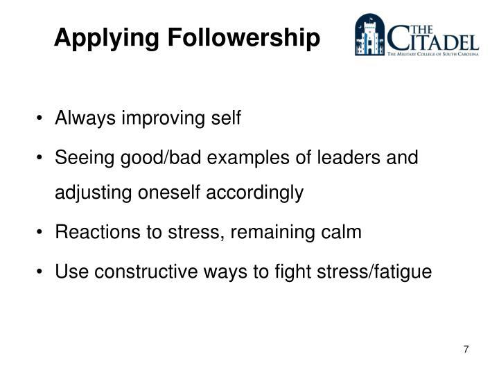 Applying Followership