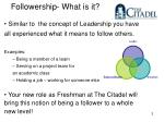 followership what is it
