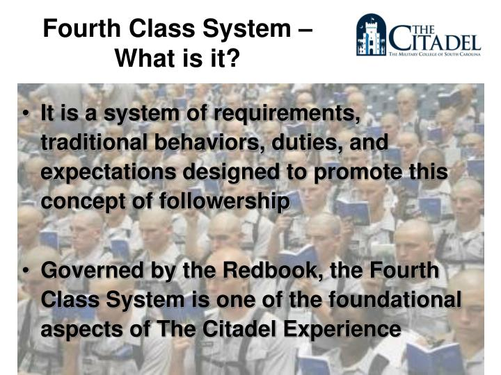 Fourth Class System – What is it?