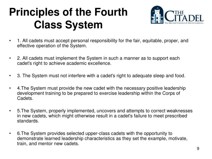 Principles of the Fourth Class System