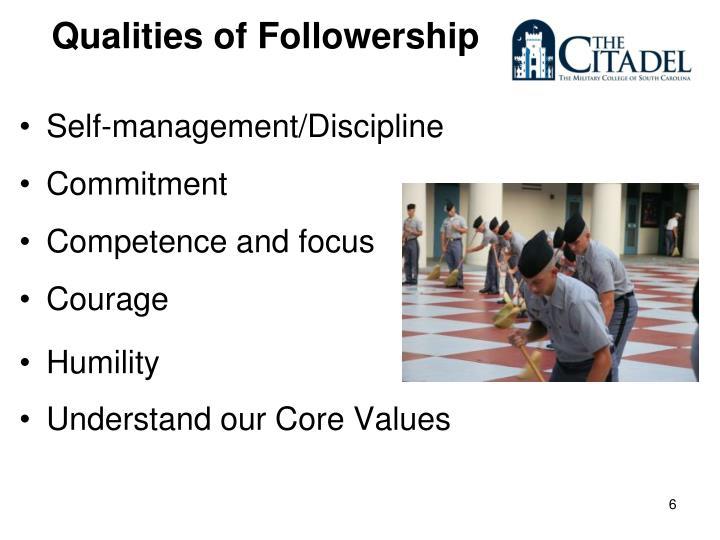 Qualities of Followership