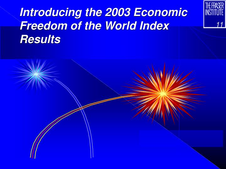 Introducing the 2003 Economic Freedom of the World Index Results