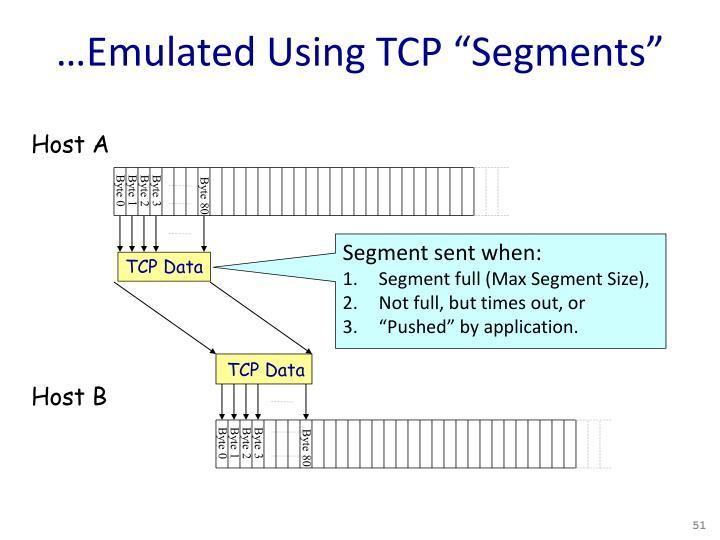 "…Emulated Using TCP ""Segments"""