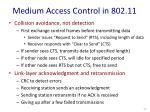 medium access control in 802 11