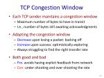 tcp congestion window