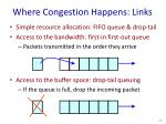 where congestion happens links