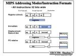 mips addressing modes instruction formats
