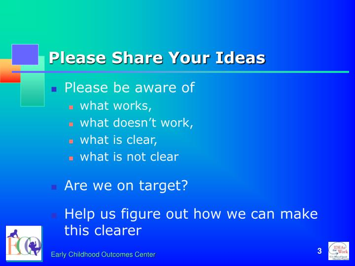 Please share your ideas
