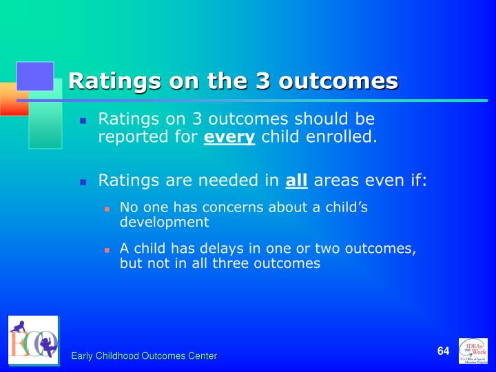 Ratings on the 3 outcomes