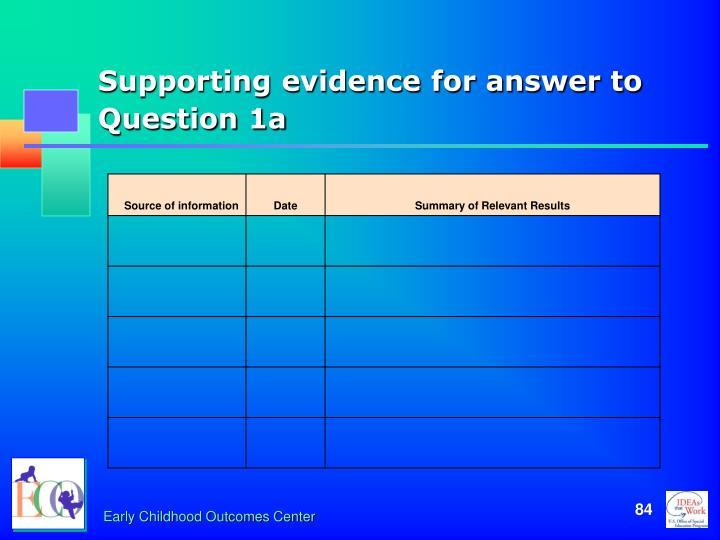 Supporting evidence for answer to Question 1a