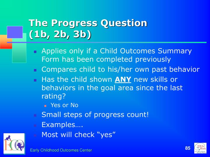 The Progress Question