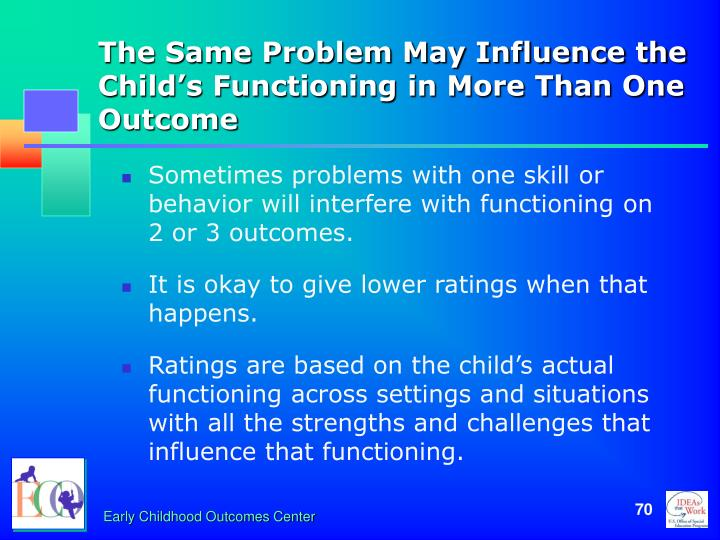 The Same Problem May Influence the Child's Functioning in More Than One Outcome
