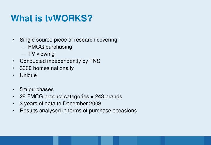 What is tvWORKS?