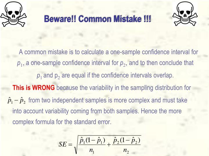 Beware!! Common Mistake !!!