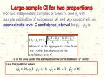 large sample ci for two proportions