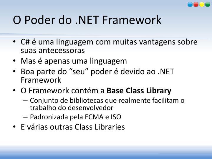 O Poder do .NET Framework