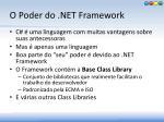 o poder do net framework