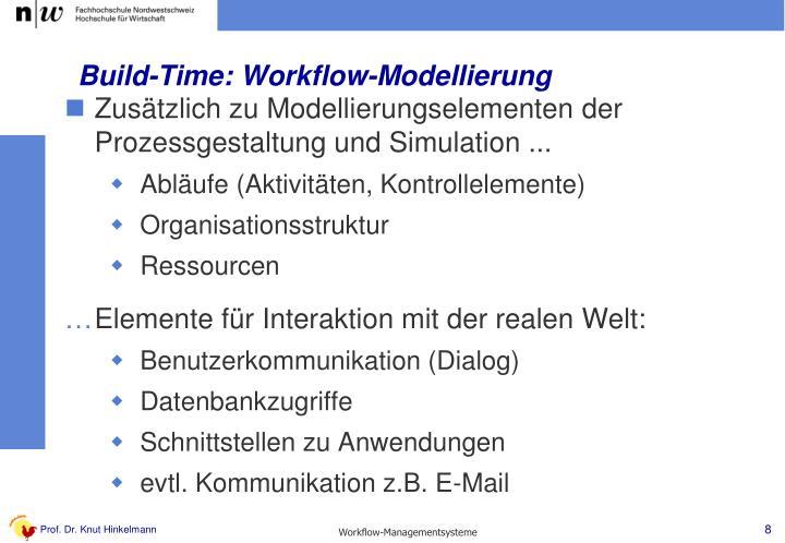 Build-Time: Workflow-Modellierung