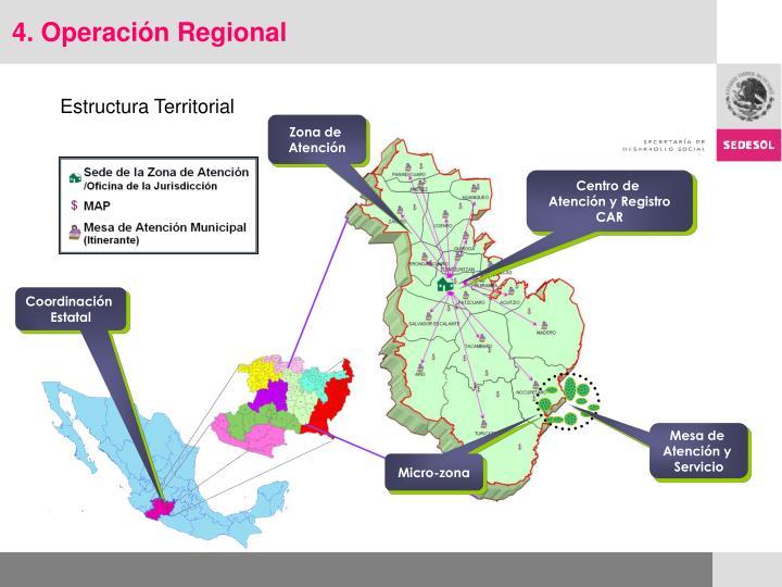 4. Operación Regional