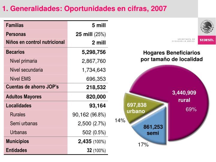 1. Generalidades: Oportunidades en cifras, 2007