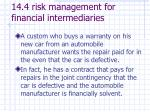 14 4 risk management for financial intermediaries