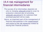 14 4 risk management for financial intermediaries1