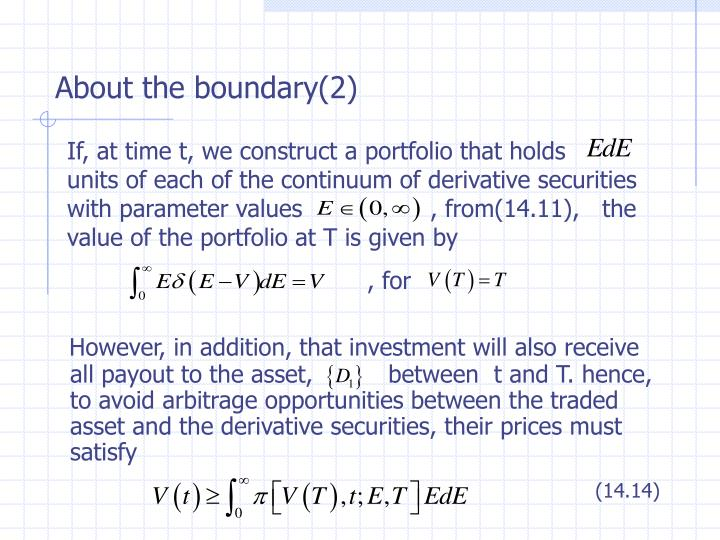 About the boundary(2)