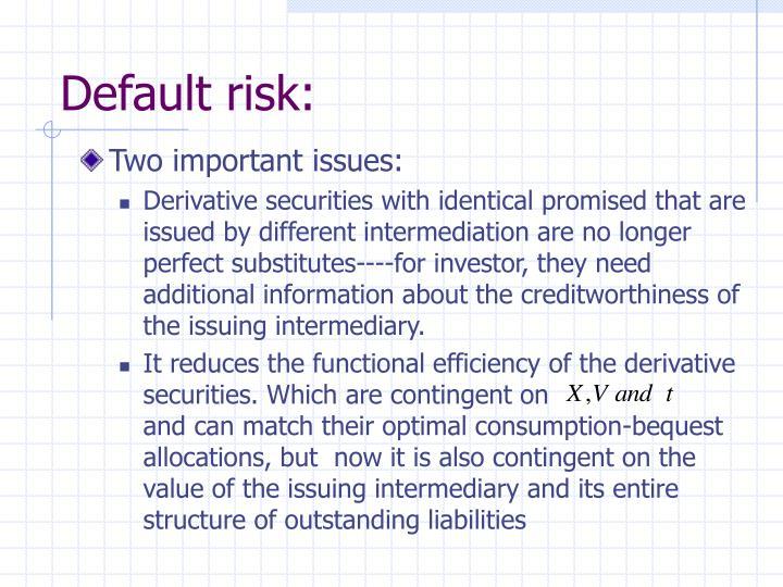 Default risk: