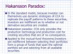 hakansson paradox