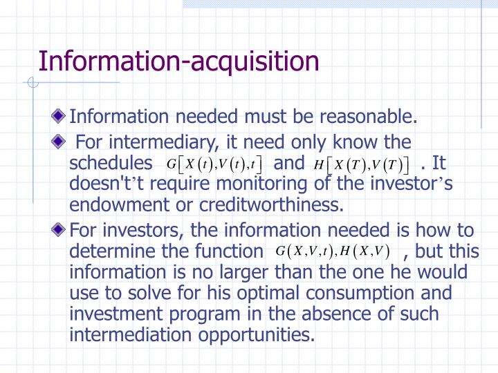 Information-acquisition