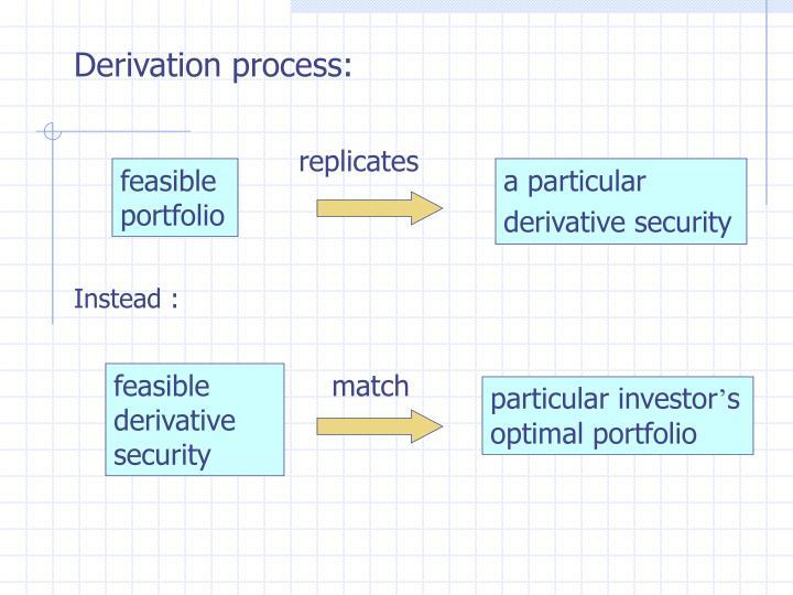 Derivation process: