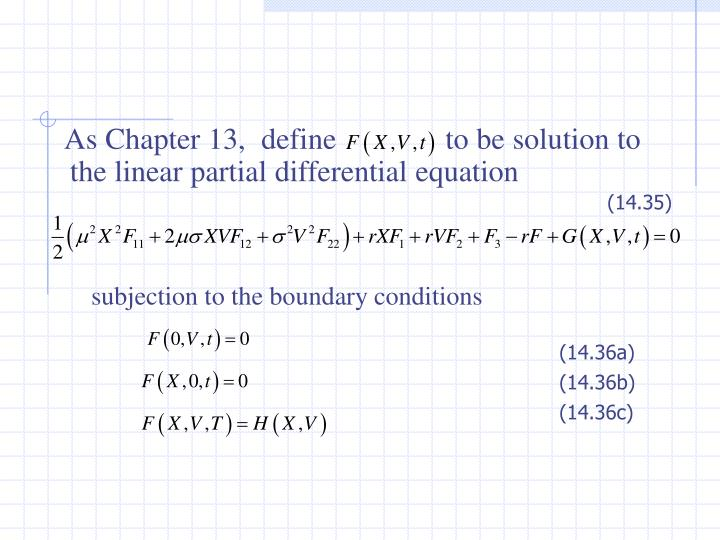 subjection to the boundary conditions