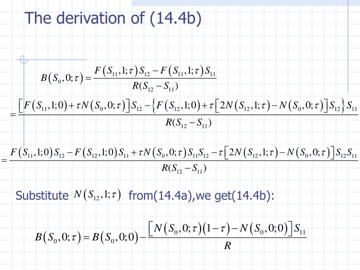 The derivation of (14.4b)