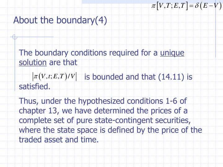 About the boundary(4)