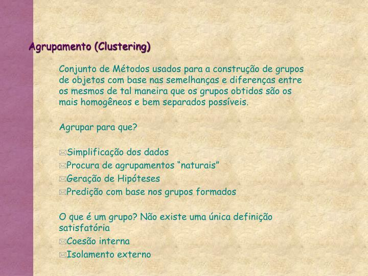 Agrupamento (Clustering)