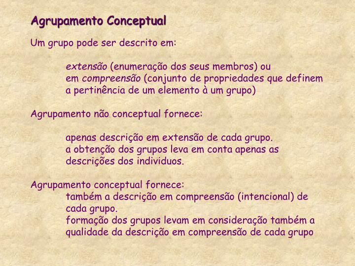 Agrupamento Conceptual