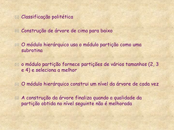 Classificação politética
