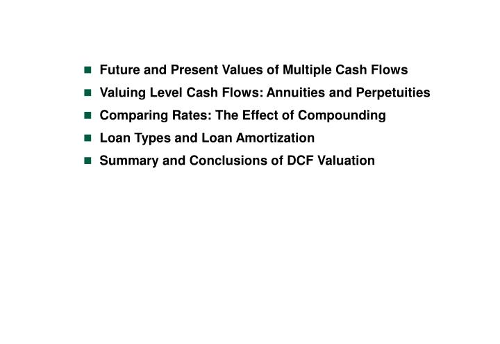 Future and Present Values of Multiple Cash Flows