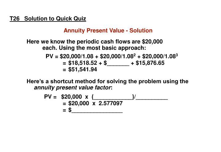 T26   Solution to Quick Quiz