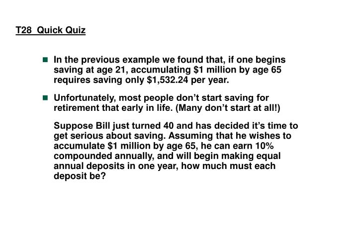 T28  Quick Quiz