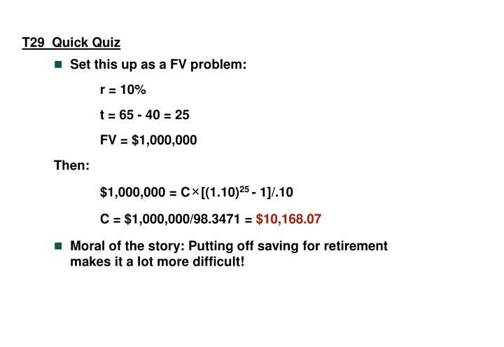T29  Quick Quiz