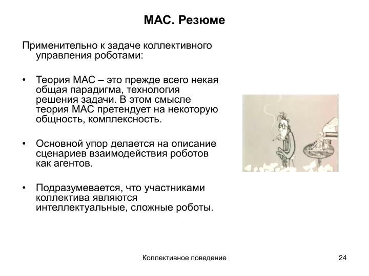 МАС. Резюме