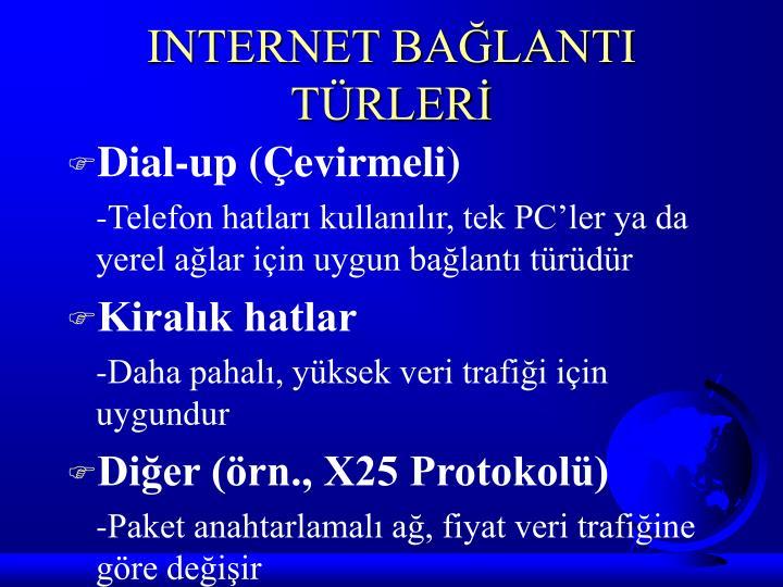 INTERNET BAĞLANTI TÜRLERİ